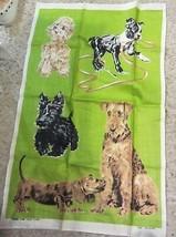 Webbs pure Irish liNEN  - Dogs - tea towel - $18.00