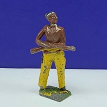 Cast iron cowboy indian lead toy soldier native american western mohican... - $26.68