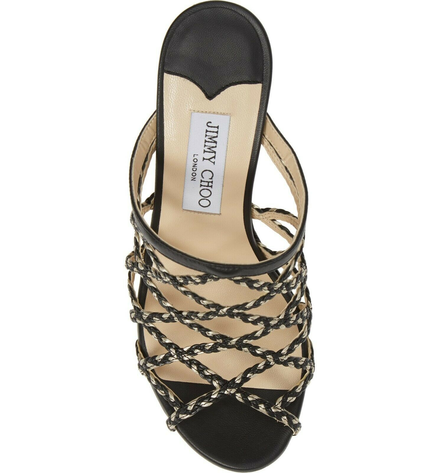 JIMMY CHOO Platform Slide Sandals Size 39.5 MSRP: $595.00