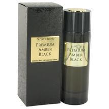 Private Blend Premium Amber Black by Chkoudra Paris Eau De Parfum Spray 3.4 oz - $103.95