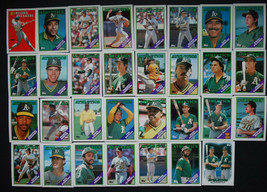 1988 Topps Oakland Athletics A's Team Set of 39 Baseball Cards With Traded - $6.00