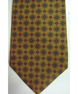 NEW Brooks Brothers Gold Green and Red Italy Silk Long Tie Made n USA - $37.49