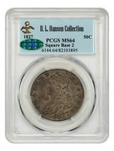 1827 50c PCGS/CAC MS64 (Square Base 2) ex: D.L. Hansen - Type Coin - Typ... - $4,374.70