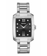 New Seiko Solar Diamond Dial Stainless Steel Men's Watch SNE461  - $255.40