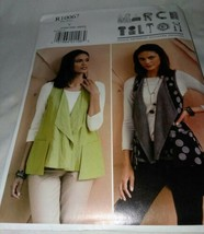 New Uncut Vogue Pattern R10067 Marcy Tilton Vests Size XSmall to Medium  - $6.99