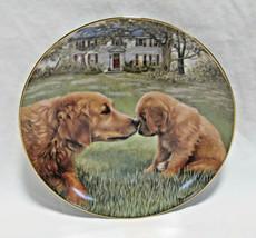 """Danbury Mint Golden Retriever Dog Golden Moment Collector Plate - 8"""" - $17.99"""