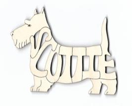 Scottish Terrier Scottie Dog laser cut wood Magnet - $7.51