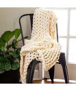 Donna Sharp Cream Acrylic Chunky Knit Throw - $80.00