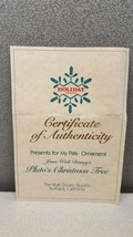 Disney Holiday Series Presents for My Pals Ornaments COA -creased- - $14.52