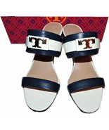 Tory Burch Maritime Wedge Slide Navy Striped Sandals Shoe Clogs 8 - 38 T... - $159.00