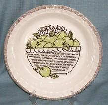 Vtg Royal China Jeannette-COUNTRY HARVEST APPLE Pie Plate/ Baker w/Recip... - €12,00 EUR