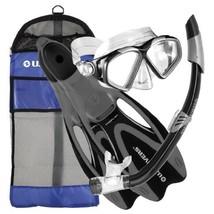 U.S. Divers Cozumel Snorkeling Set - Adult Mask, Proflex Fins, Splash Guard Snor