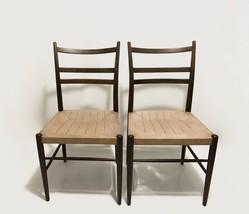 2x Yngve Ekstrom for Gemla Gracell Dining Chairs Scandinavian Design Mid... - $1,006.44