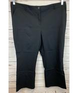 Lane Bryant Black Dress Pants Slacks Size 28 Short Pockets Belt Loops NE... - $33.33