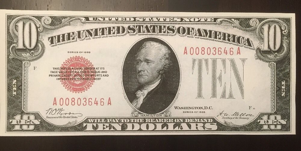USA 100 DOLLARS 1928 GOLD CERTIFICATE Reproduction UNC