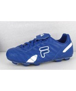Fila Forza youth boys prince blue white laced outdoor soccer cleats size... - $17.51