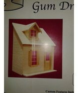 THE HOUSE THAT JACK BUILT DOLLHOUSE  UNFINISHED  BIRCH WOOD GUMDROP PREA... - $133.60