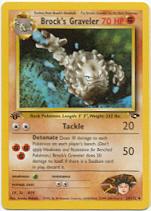 Brock's Graveler 34/132 Uncommon 1st Edition Gym Challenge Pokemon Card
