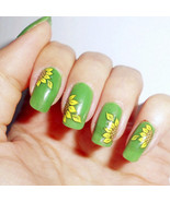 2PCS Sunflower Theme Nail Art Water Decals Stickers Transfer Stickers Ma... - $1.60