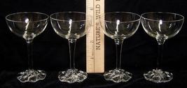 Set of 4 Mini Clear Champagne Stemware Glasses - $14.84