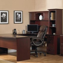 REALSPACE U Shaped Office Executive DESK WITH... - $598.99