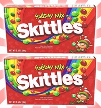 x2 Skittles Holiday Mix Fruity Chews LE Xmas American Candy Theater Box ... - $10.28