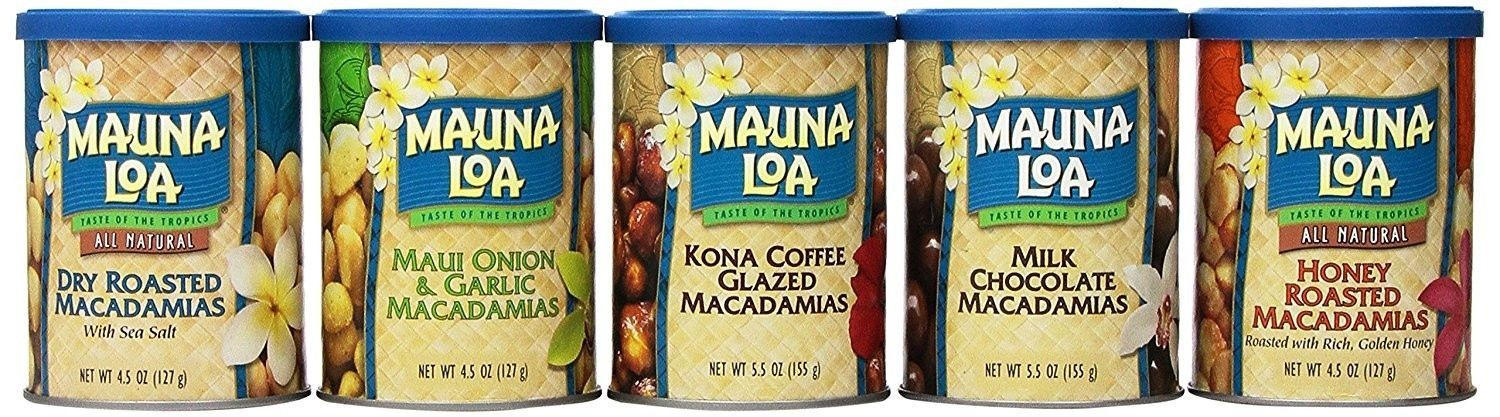 Mauna Loa Macadamia Nuts, Island Classics Assortment (6-Can GIFT Collection)