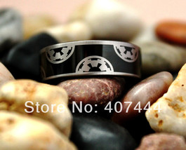 8MM Black Pipe Galactic Empire His /Her Men's Tungsten Carbide Wedding Ring - €29,84 EUR