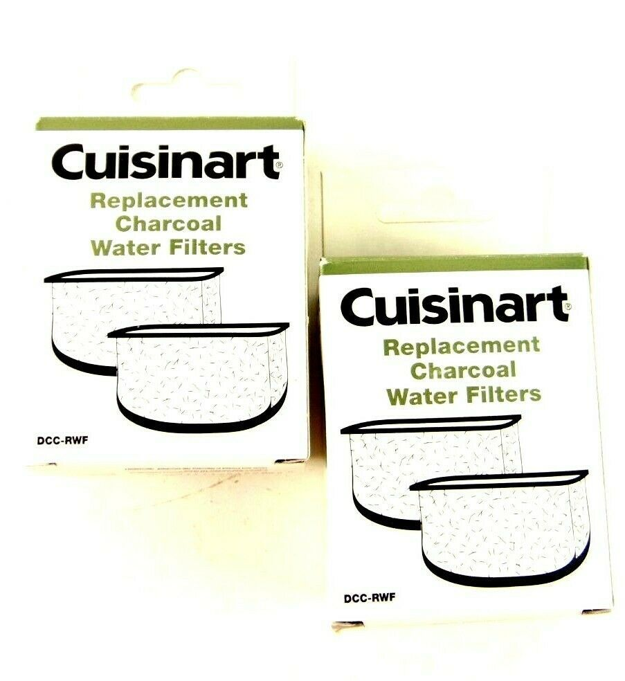 Cuisinart Replacement Charcoal Water Filters DCC-RWF Lot Of 2 Pack Of 2 - $19.79