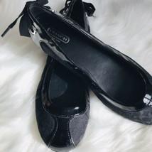 Coach Black Flats Womens Shoes Size 7 - $34.65