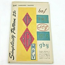 Vintage Simplicity Sewing Pattern Monogram Embroidery Transfer Alphabets... - $23.95