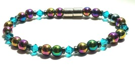 Beaded Bracelet Magnetic Hematite Clasp Single Strand   7 Inch   (MAG-019) image 2