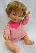 """Ideal Baby Giggles Doll 1968 16"""" Blond Flirty Eyes Laughing TLC fixer upper - $18.00"""
