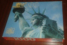 """1970's Guild 1000 Piece Puzzle Statue Of Liberty 21"""" x 27"""" New In Sealed... - $18.95"""