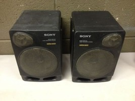 Pair of Vintage Sony Mega Bass 2 Way Boombox Speakers CFD-510 (c32) - $51.30 CAD