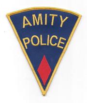 Jaws Movie Amity Police Logo Shoulder Patch, Red Diamond Embroidered Pat... - $7.84