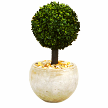 2' Boxwood Topieary Artificial Tree In Sand Colored Bowl (Indoor/Outdoor) - €107,11 EUR