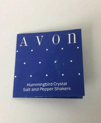 NEW AVON ~Crystal Hummingbird Salt & Pepper Shakers
