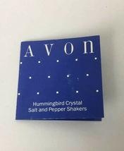 NEW AVON ~Crystal Hummingbird Salt & Pepper Shakers image 6