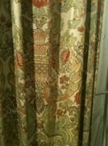 Pottery Barn Set 2 Simone Drape 50x84L Floral Curtain Pair Farmhouse Rare - $183.89