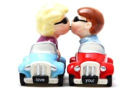 Salt & Pepper Shakers Set - CARS New Ceramic Kitchen Gifts by Pacific Gi... - $10.86