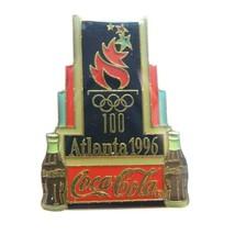 1996 Atlanta Summer Olympics Art Deco Logo Coca-Cola Coke Sponsor Lapel Pin - $17.81