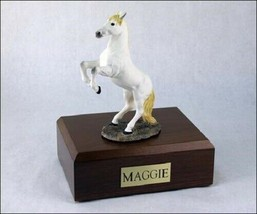 Horse White Figurine Funeral Cremation Urn Available in 3 Diff Colors & ... - $169.99+
