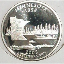 2005-S Clad Proof Minnesota State Quarter PF65DC #419 - $2.39