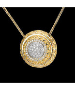 "Carrera y Carrera ""ALEGRIA"" 18K Yellow Gold with Pave Diamond Pendant Ne... - $14,300.00"