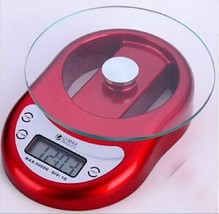 Gorgeous Useful Mini Digital Food Kitchen Glass Scale 1 g to 5kg Clock T... - $21.50