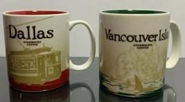 2012 Starbucks Brand Vancouver Island and Dallas 16 oz Collectors Coffee... - $98.01