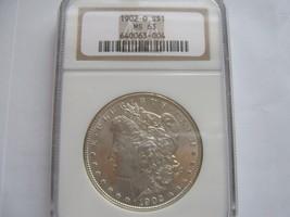 1902-O , Morgan Silver Dollar , NGC , MS 63 - $75.00