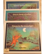 Vintage Simon in Moonlight Finds a Feather His Boxes Lot 3 HB Book Gille... - $17.80