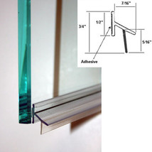 Clear Polycarbonate Drip Rail and Sweep Combination w/ VHB Tape for Frameless Sh - $24.95